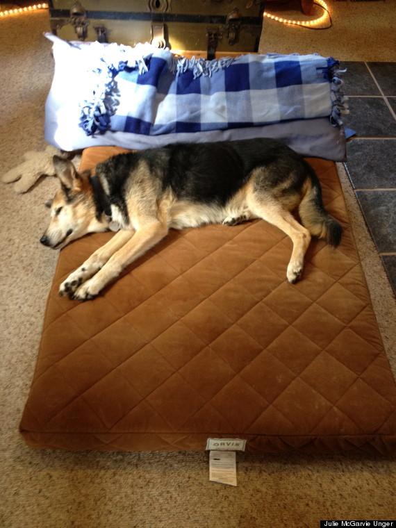 sleepin on new bed