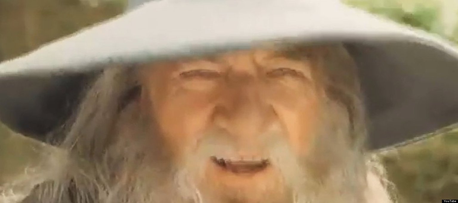 The lord of the rings gandalf nods his head to europop video