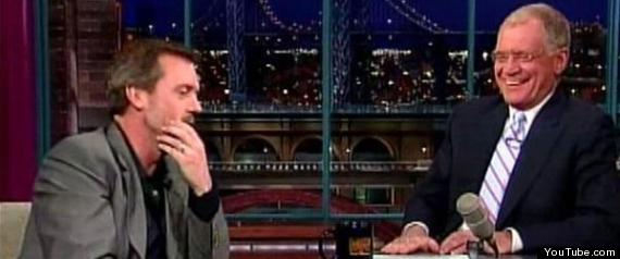 DAVID LETTERMAN HUGH LAURIE