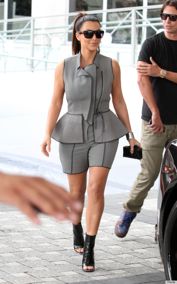 Kim Kardashian Wears Questionable Skort Suit While Shopping Photos Huffpost