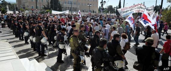 Grece Athenes Manifestations Rigueur