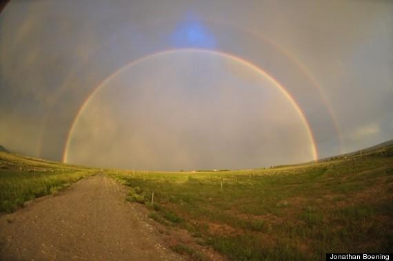 wyoming double rainbow