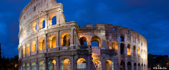 Italy Protests Colosseum