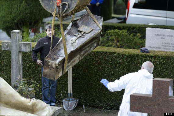 coffin exhumed