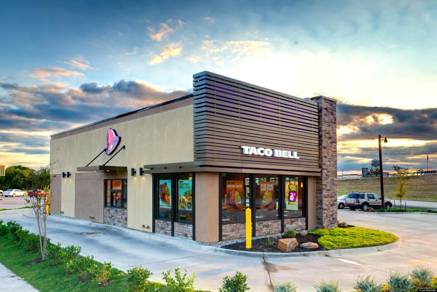 Taco Bell Redesign To Cost Less To Build, Make Exterior Glow Purple    HuffPost