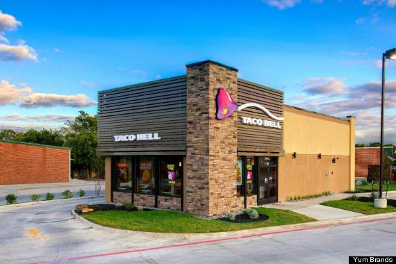 Fast Food Building Designs Alluring Taco Bell Redesign To Cost Less To Build Make Exterior Glow . Decorating Design