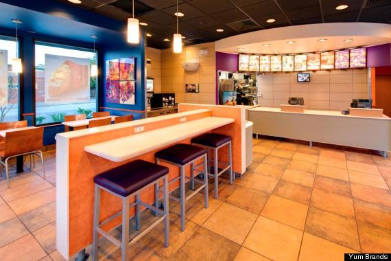 taco bell redesign interior