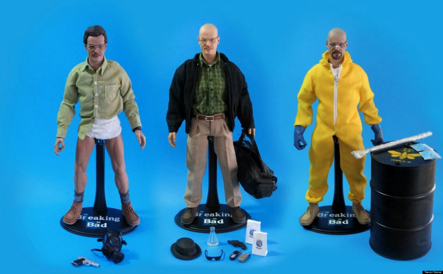 Toys For Poor : Breaking bad action figures sculptor trevor grove gives
