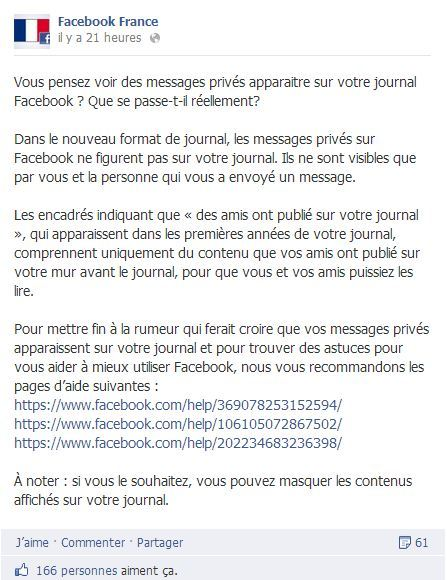 facebook france message