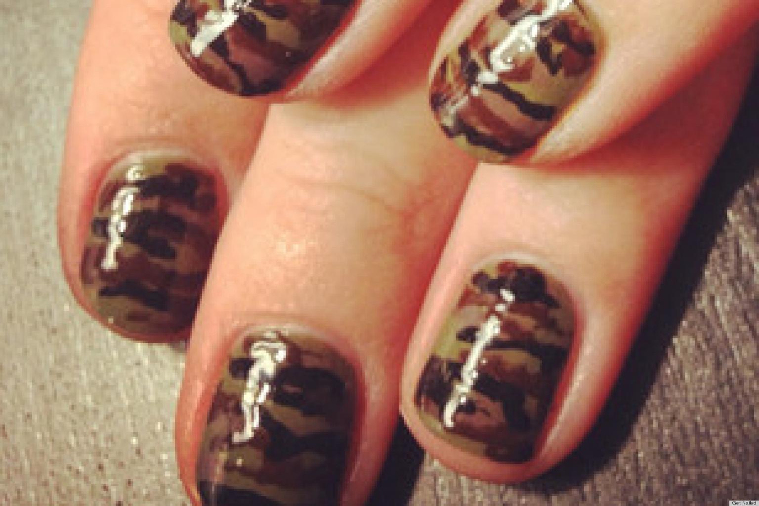 Camo Nail Designs Pictures ~ Camo nail art fashions