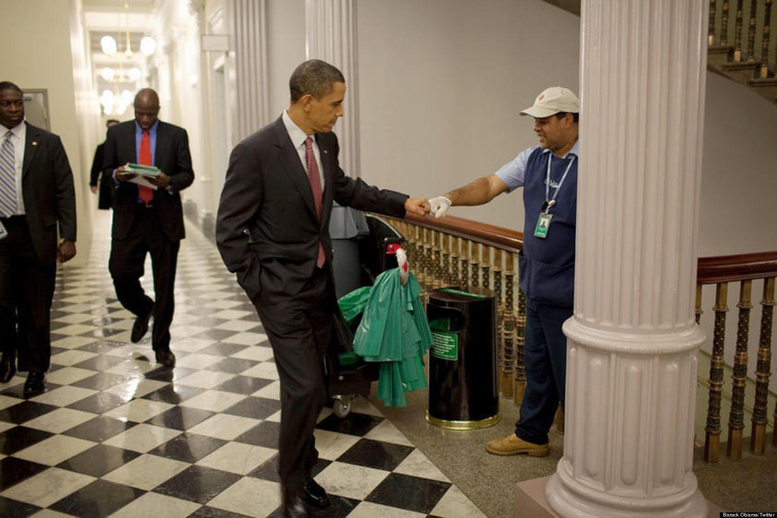 obama barack a fist bump picture sense balance