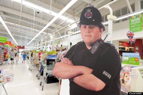 cardboard policeman