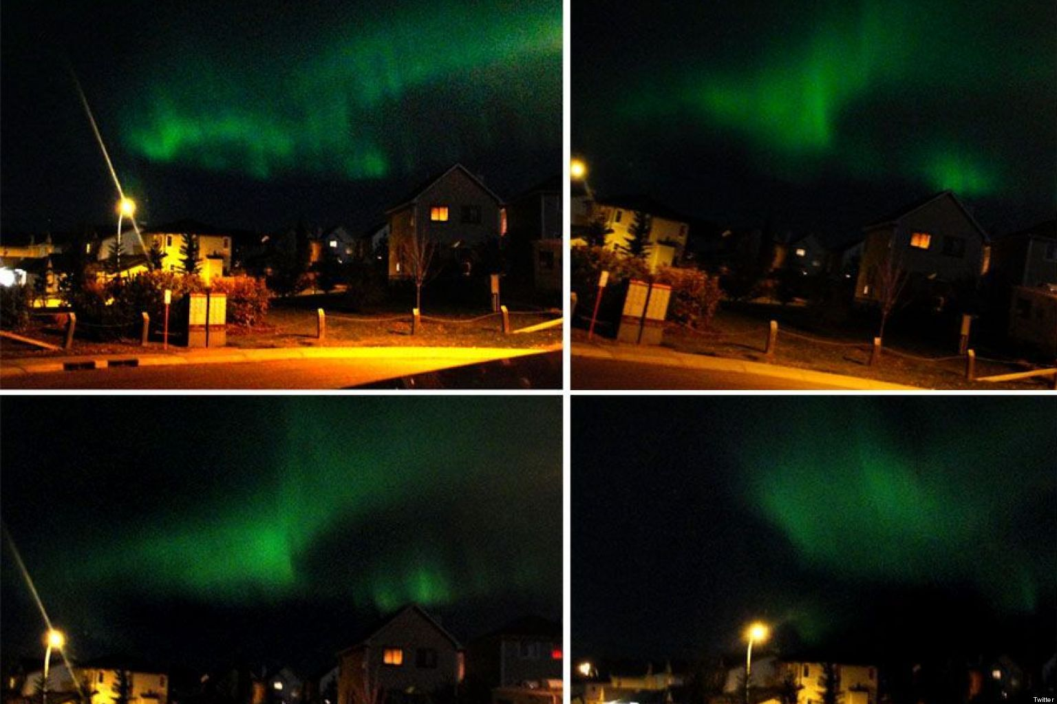 Northern lights over calgary dancing aurora borealis put on stunning