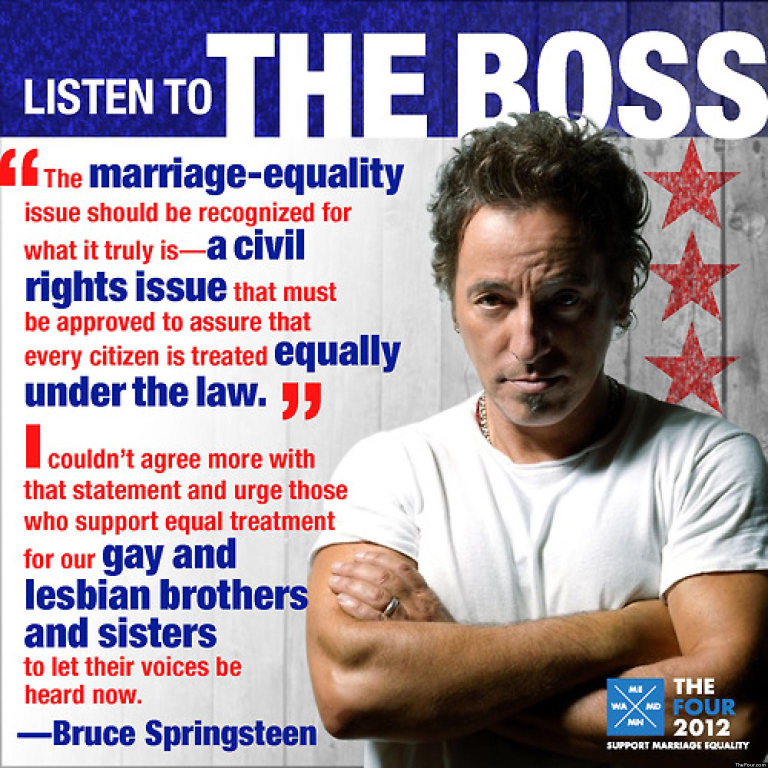 Bruce Springsteen Gay Rights