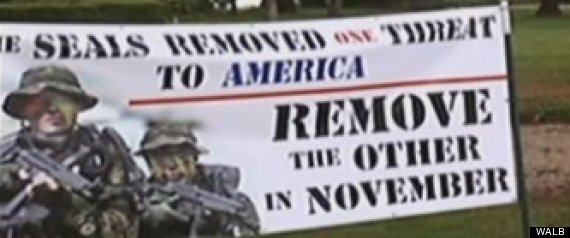 obama threat sign