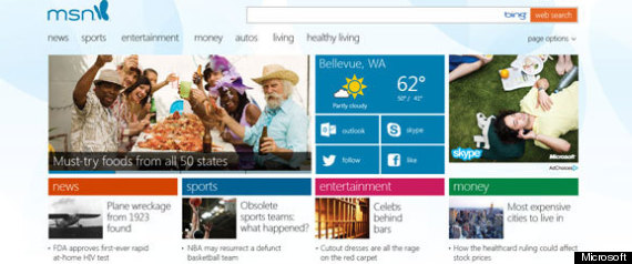 MSN.com's new design is tailored for Windows 8 users