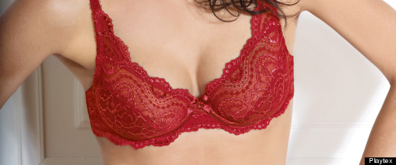 PLAYTEX RED FLOWER LACE