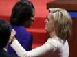 Michelle Obama, Ann Romney Hug, Shake Hands At Presidential Debate In Denver (VIDEO)