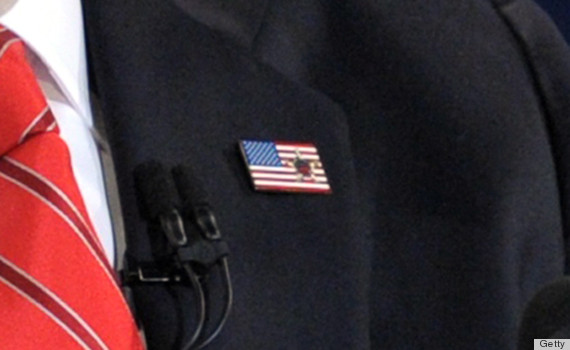 romney flag pin