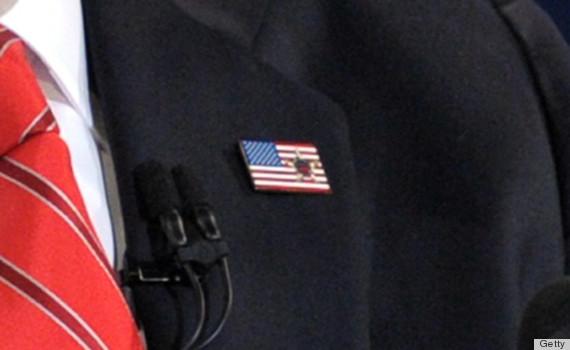 romney flag pin