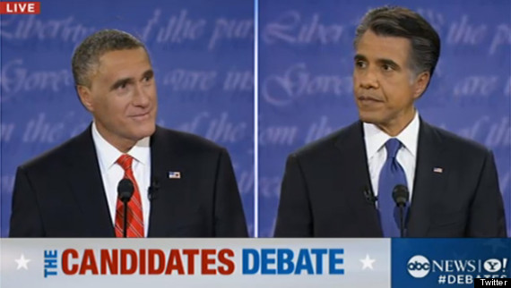 presidential debate hair switch romney obama