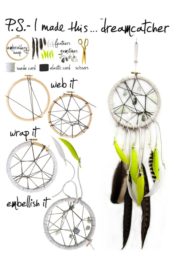 Make a dream catcher with erica domesek huffpost for Ideas for making dream catchers