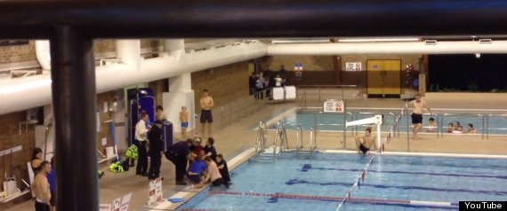 Dorset Police Officers Jump In Pool Fully Clothed To Restrain 39 Nuisance Swimmer 39 Pictures
