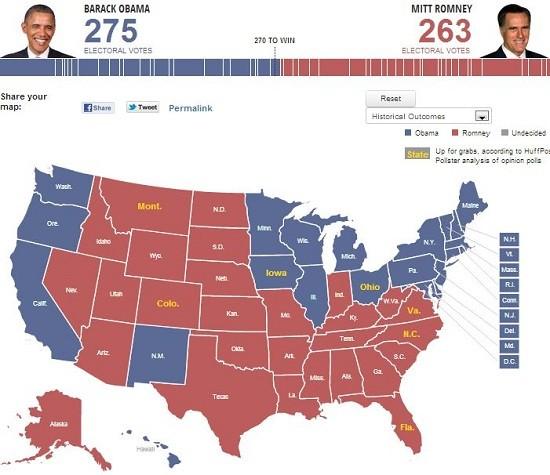 electoral projection october five