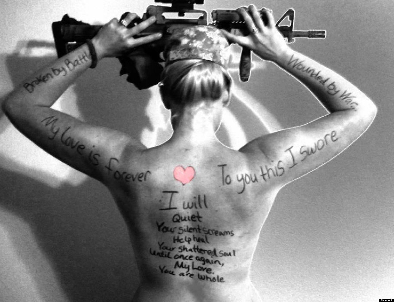 Military Wives Go Artistically Topless To Raise Awareness For Ptsd Huffpost