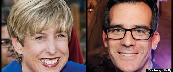 ERIC GARCETTI WENDY GREUEL HOLLYWOOD