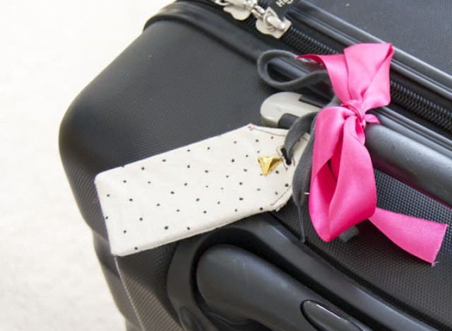 craft of the day make a chic luggage tag huffpost life