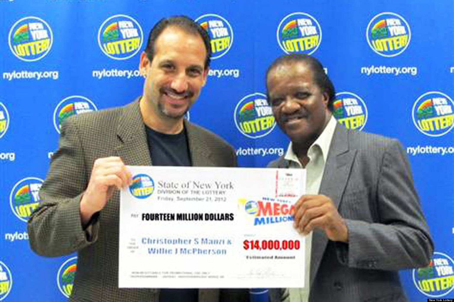 willie mcpherson and christopher manzi win mega millions