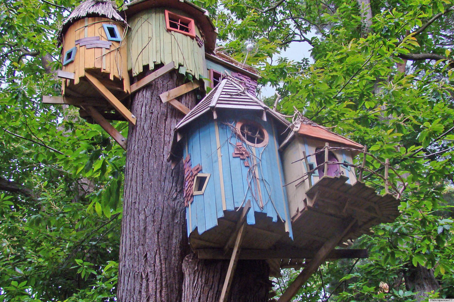 Cool treehouse designs we wish we had in our backyard for Treehouse designers
