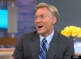 A giddy Sam Champion dished on