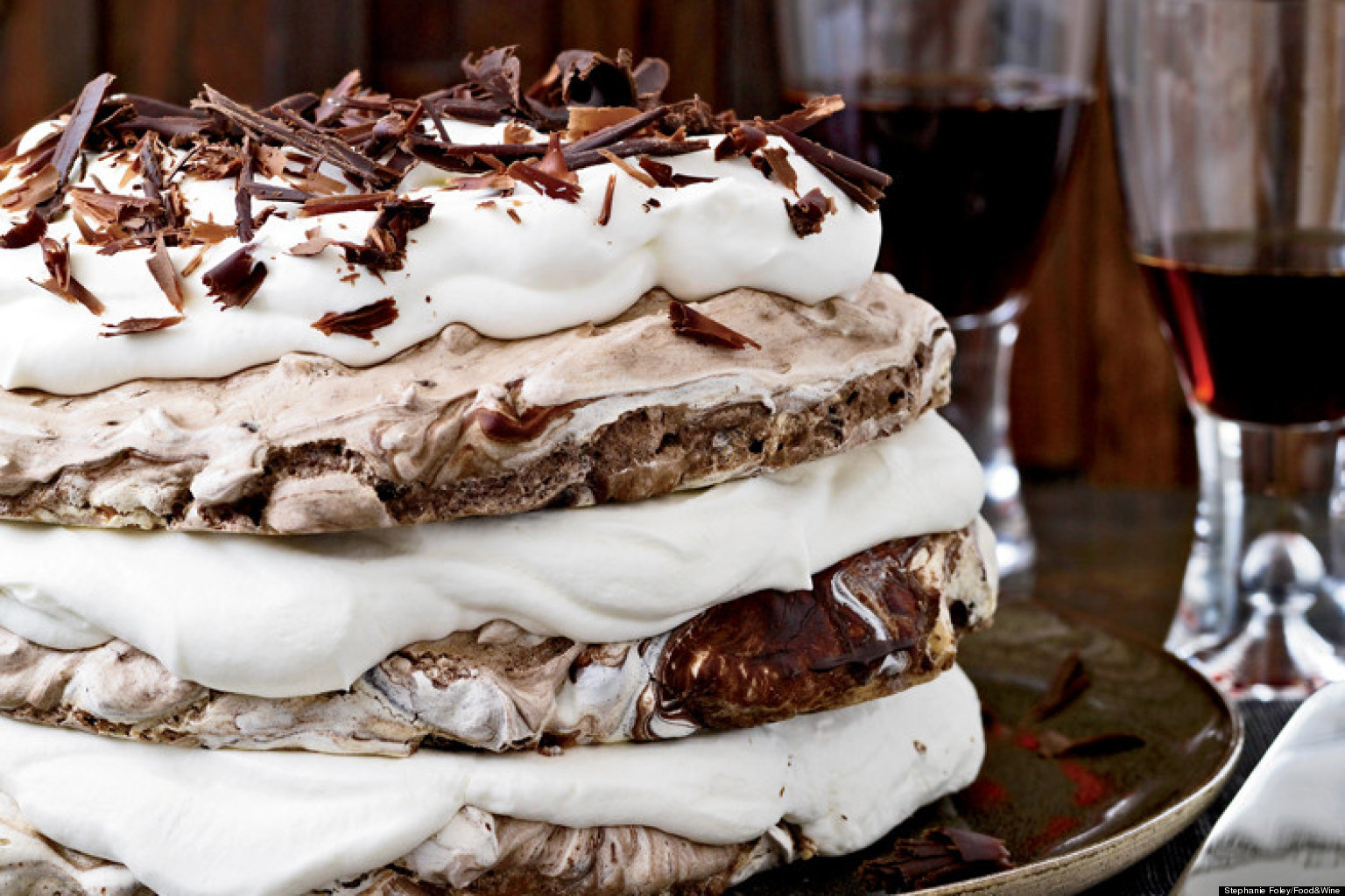 Hazelnut Meringue Cake With Kahlua Cream