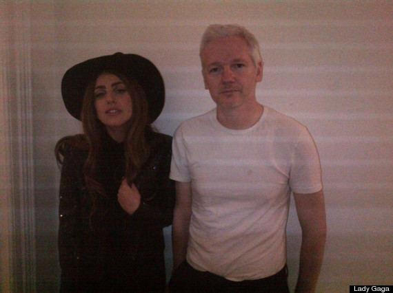 lady gaga and assange