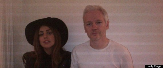 Lady Gaga Julian Assange
