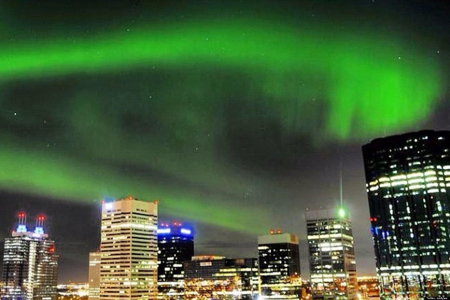 Northern lights over edmonton and fort saskatchewan stunning aurora