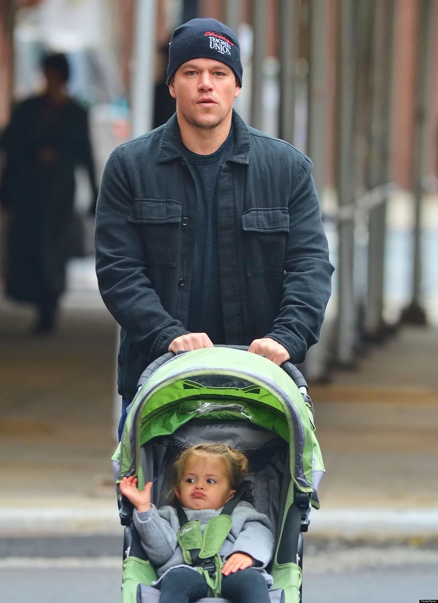 Matt Damons Daughter Stella Makes Funny Faces As She