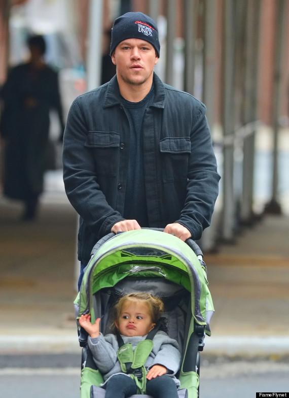 Мэтт Дэймон с младшей дочерью