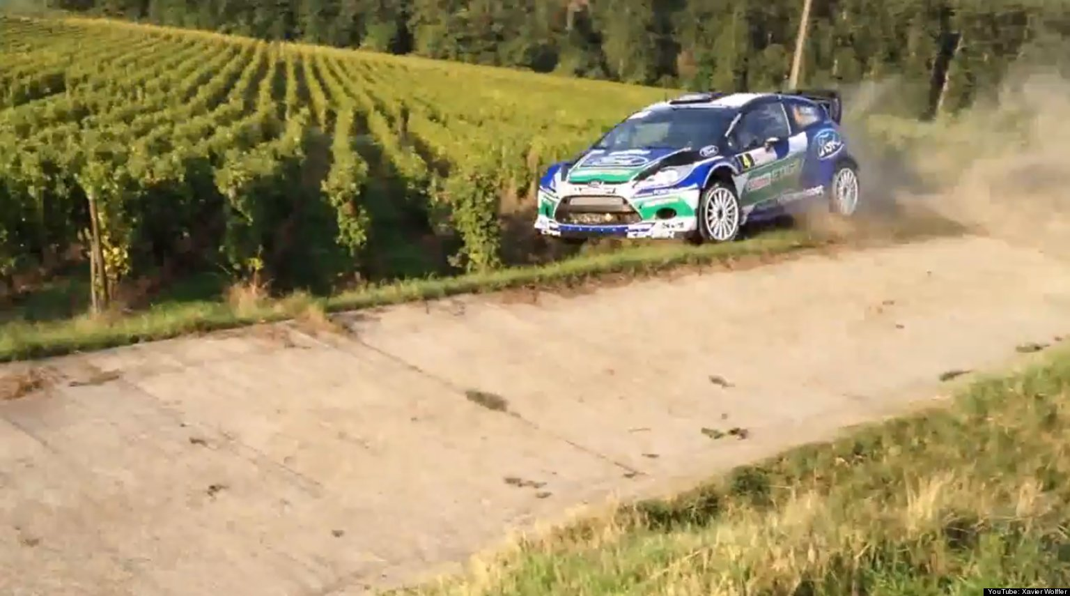 Rally Car Racing Crashes Race Car Crashes Into French