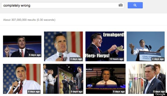 Completely Wrong': Google Image Search Brings Up Mitt Romney Photos