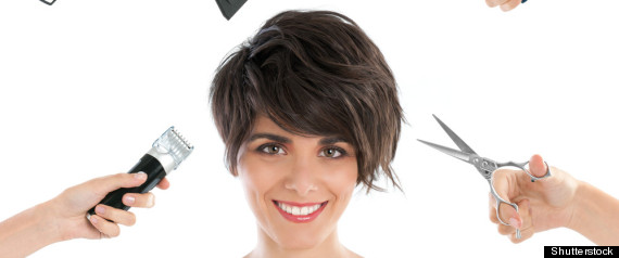 WOMAN HAIRCUT