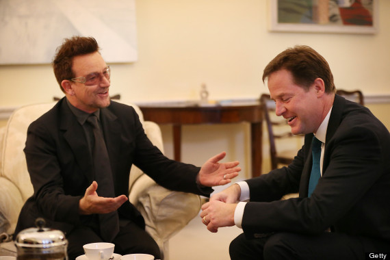 bono and nick clegg