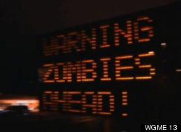 Zombie Apocalypse Road Sign Maine