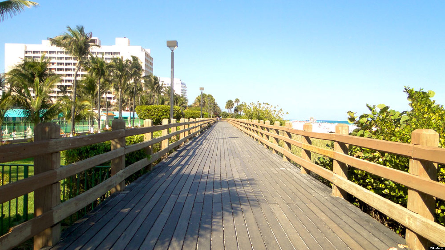 Miami Beach Wooden Boardwalk Improved For Atlantic