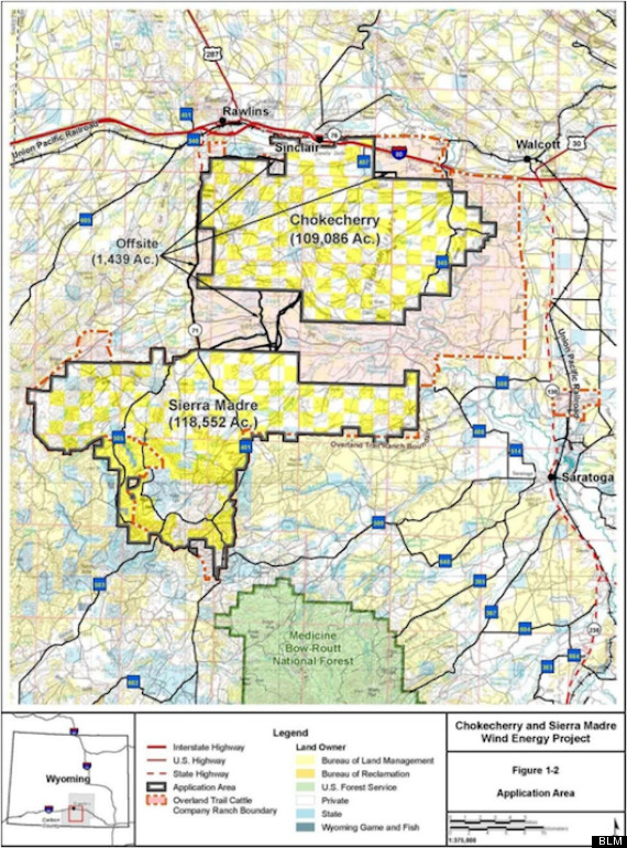 Chokecherry And Sierra Madre Energy Project Could Be Largest Wind - Us wind farm map