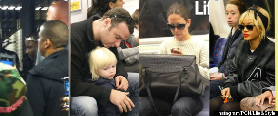 CELEBRITIES RIDING THE SUBWAY