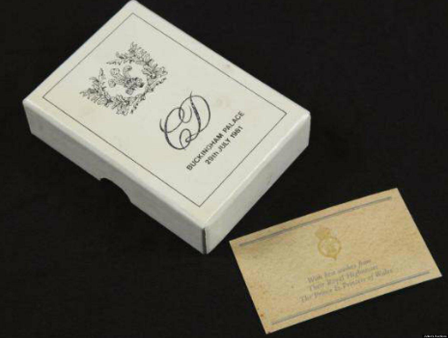 Princess Diana Prince Charles 1981 Wedding Cake Slice Up