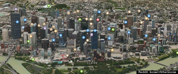 Apple Maps Calgary Downtown